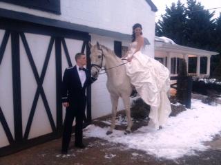 Bride on horseback